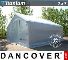 Storage shelter 7x7x2.5x4.2 m Titanium