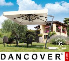 Cantilever parasol Napoli Braccio with valance, 3x3 m, Ecru