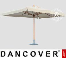 Parasol Palladio Standard with valance, 3x3 m, Ecru
