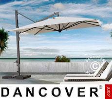 Cantilever parasol Galileo Maxi, 4x4 m, Ecru