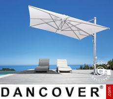 Cantilever parasol Galileo Inox, 3.5x3.5 m, Ecru