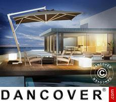 Cantilever parasol Milano Braccio, 3.5x3.5 m, Grey taupe