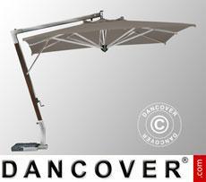 Cantilever parasol Giotto Braccio, 3.5x3.5 m, Grey taupe