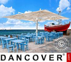 Cantilever parasol Milano Poker, 4-double, 6x6 m, Ecru