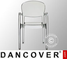 Chair with armrests, Joker, Transparent, 6 pcs.