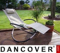 Sun Lounger Swing Beige