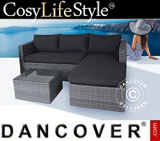 Poly rattan Lounge Set, Key Largo, Grey