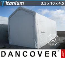Boat Shelter Titanium 3.5x10x3.5x4.5 m, White