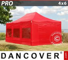 Marquee PRO 4x6 m Red, incl. 8 sidewalls