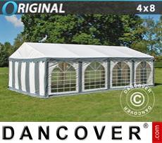 Marquee Original 4x8 m PVC, Grey/White