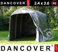 Storage tent PRO 2.4x3.6x2.34 m PE, Grey