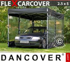 Folding garage FleXcarcover, 2,5x5m, Black