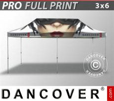 Pop up gazebo FleXtents PRO with full digital print, 3x6 m