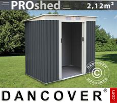 Garden Shed w/Flat Roof 2,01x1,21x1,76 m ProShed, Anthracite