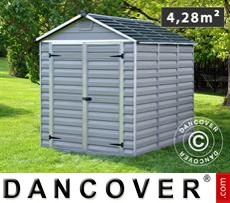 Polycarbonate Garden shed, SkyLight, 1.86x2.31x2.17 m, Anthracite
