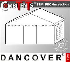 2m end section extension for Semi PRO CombiTent®, 6x2m, PVC, White