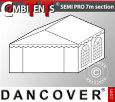 4m end section extension for Semi PRO CombiTent, 7x4m, PVC, White
