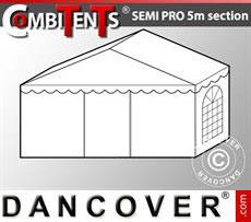 2 m end section extension for Semi PRO CombiTents® , 5x2m, PVC, White