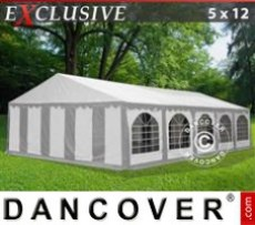 Marquee Exclusive 5x12 m PVC, Grey/White