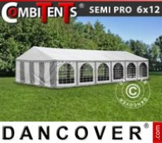 Marquee 6x12m 4-in-1, Grey/White