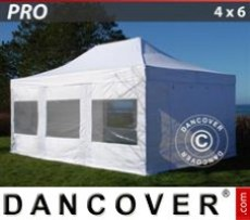 Marquee 4x6 m White, incl. 8 sidewalls