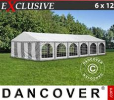 Marquee Exclusive 6x12 m PVC, Grey/White