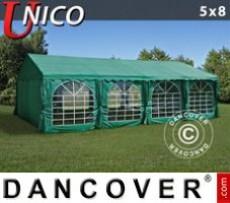 Marquee UNICO 5x8m, Dark Green
