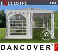 Marquee Pagoda Exclusive 4x4 m PVC, White
