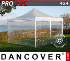 Pop up gazebo FleXtents PRO 4x4 m Clear, incl. 4 sidewalls