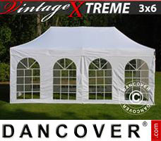 Pop up gazebo FleXtents Xtreme Vintage Style 3x6 m White, incl. 6 sidewalls