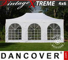Pop up gazebo FleXtents Xtreme Vintage Style 4x6 m White, incl. 8 sidewalls