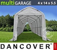 Camper Caravan Tents Storage shelter multiGarage 4x14x4.5x5.5 m, White
