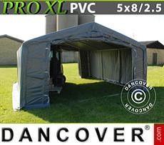 Camper Caravan Tents Storage shelter PRO 5x8x2.5x3,3 m, PVC, Grey
