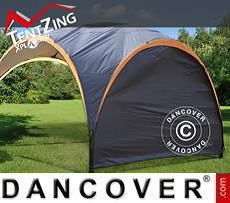 Sidewall for camping sun shelter, TentZing®, Dark Grey