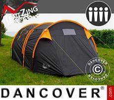 Camping tent, TentZing® Tunnel, 4 persons, Orange/Dark Grey
