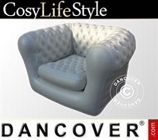 Event Furniture Inflatable armchair, Chesterfield style, Off-White