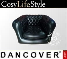 Event Furniture Inflatable armchair, Chesterfield style, Black