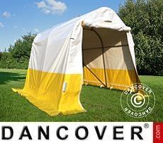 Flexshelter Work Tents Storage work tent PRO 2x2x2 m, PVC, White/Yellow, Flame retardant