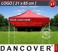 Logo Print Branding 1 pc. valance print 21x85cm on FleXtents, left-aligned