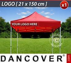 Logo Print Branding 1 pc. valance print 21x150 cm on FleXtents, left-aligned