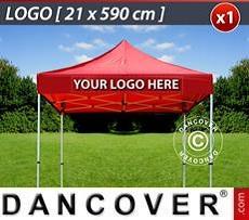 Logo Print Branding 1 pc. FleXtents valance print 21x590 cm, centered