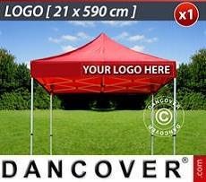 Logo Print Branding 1 pc. valance print 21x590 cm on FleXtents, right-aligned