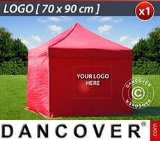 Logo Print Branding 1 pc. FleXtents sidewall print 70x90 cm