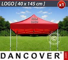 Logo Print Branding 1 pc. FleXtents roof cover print 40x145 cm