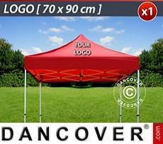 Logo Print Branding 1 pc. FleXtents roof cover print 70x90 cm