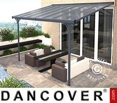 Patio cover Malibu, 3.05x4.36m, Dark Grey