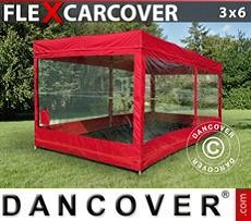 Racing tents Folding garage FleX Carcover, 3x6 m, Red