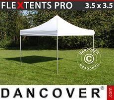 Racing tents Pop up gazebo FleXtents PRO 3.5x3.5m White