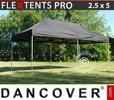 Racing tents Pop up gazebo FleXtents PRO 2.5x5m Black