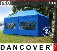 Racing tents Pop up gazebo FleXtents PRO 3x6 m Blue, incl. 6 sidewalls